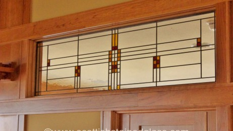 Custom Frank Lloyd Wright Stained Glass Houston Stained