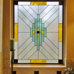 Contemporary bathroom scottish stained glass (1)