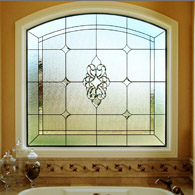 Bathroom Stained Glass