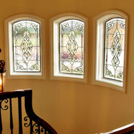 Hallway Stained Glass Windows Houston