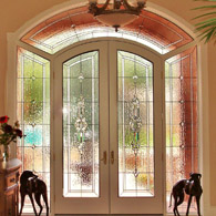 Stained Glass Sidelights Houston