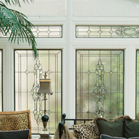 Transom Leaded & Beveled Glass Houston
