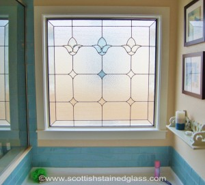 Houston Stained Glass Bathrooms