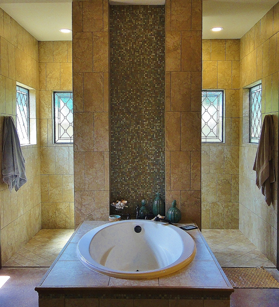 bathroom stained glass windows houston